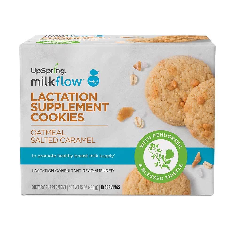 UpSpring Milkflow Fenugreek Oatmeal Salted Caramel Lactation Cookie