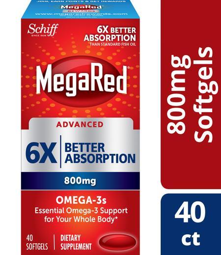 MegaRed Advanced 6X Better absorption 800mg
