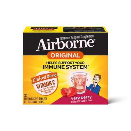 Airborne Very Berry Effervescent Immune Support Supplement