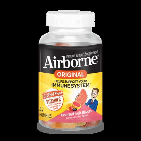 Airborne Assorted Fruit Flavored Immune Support Gummies